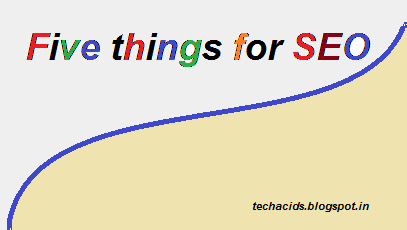 five things for seo