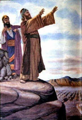 Balaam blesses Israel - Artist unknown