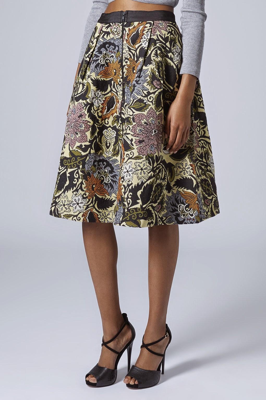 tapestry midi skirt