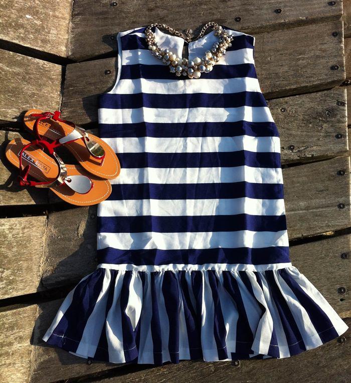 vestido navy