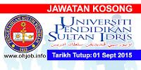 Jawatan Kerja Kosong Universiti Pendidikan Sultan Idris (UPSI) logo www.ohjob.info september 2015