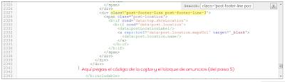 Editor HTML de Blogger