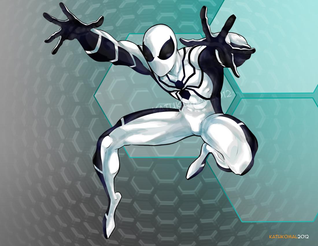 Spider man white 01