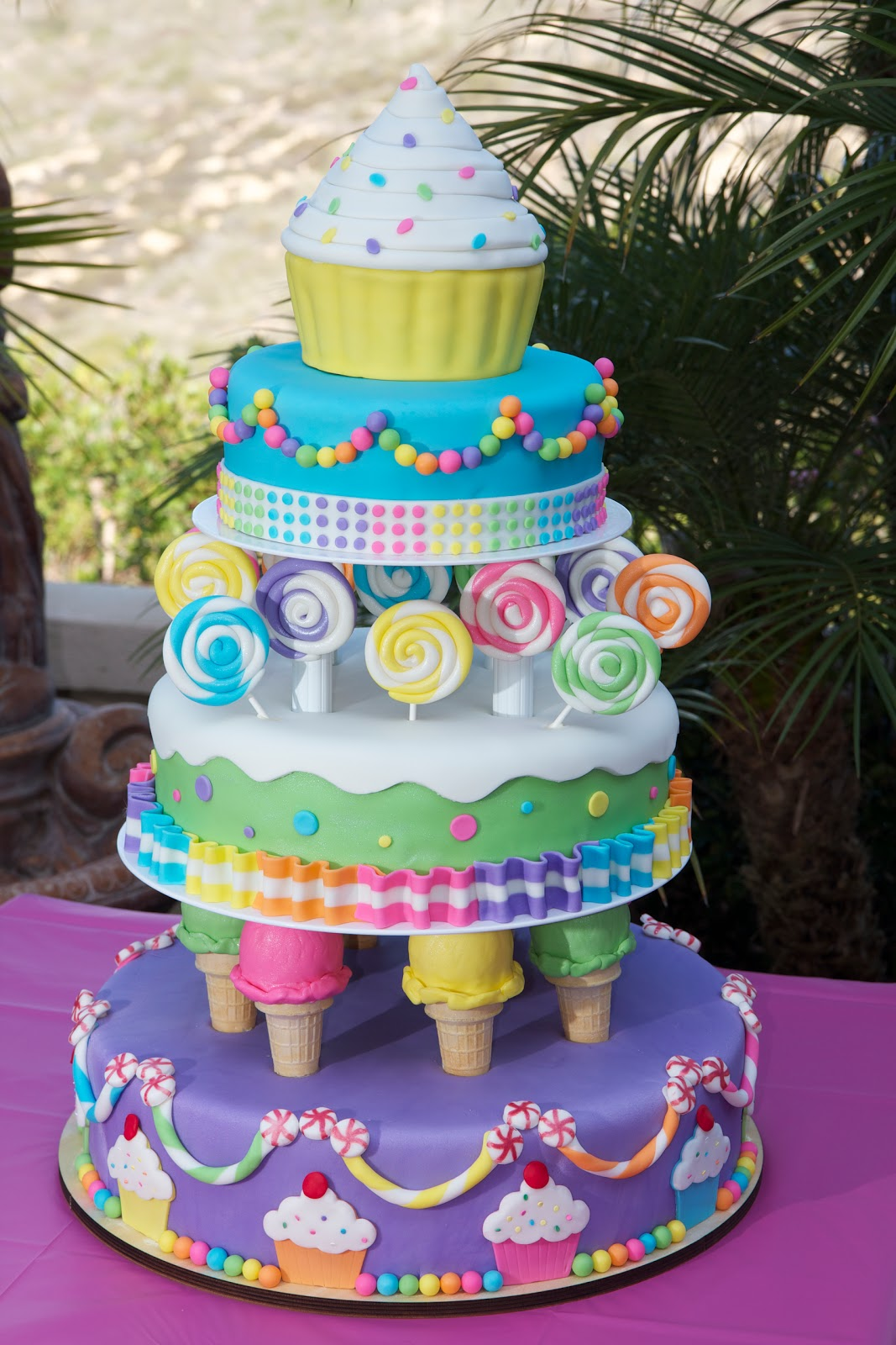 Cake Theme For Birthday : Kaylynn Cakes: Large Candyland themed Birthday Cake