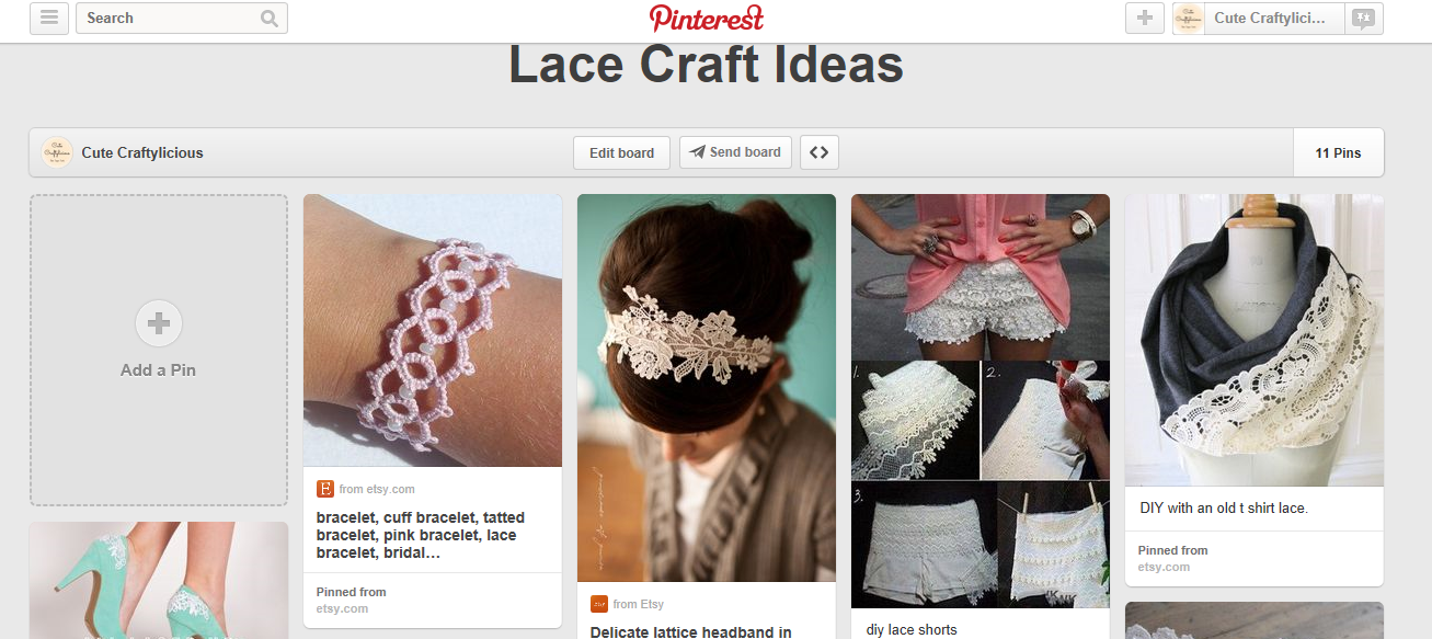 http://www.pinterest.com/ccraftylicious/lace-craft-ideas/