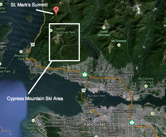 Vancouver to Cypress Mountain