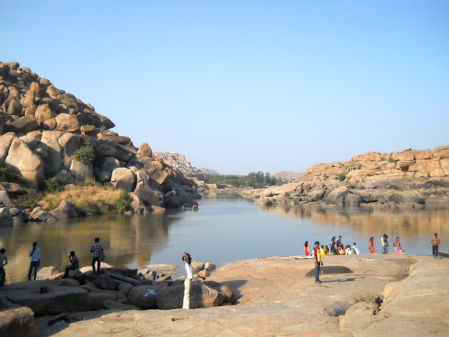 Хампи. Река Тунгабхадра