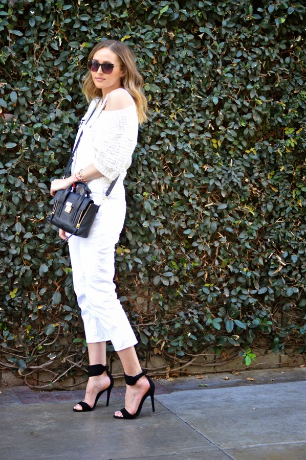 How To Wear White Overalls In Spring- Paige Denim Overalls- Schutz Heels- LA Fashion Blogger- Ashley Murphy