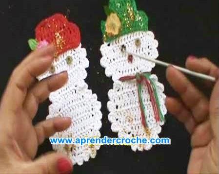 croche boneco da neve natal arvore decoração aprender croche com edinir-croche dvd loja curso frete gratis youtube facebook pinterest