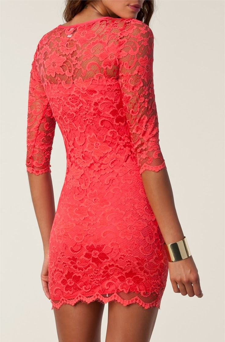 Red lace gown for ladies