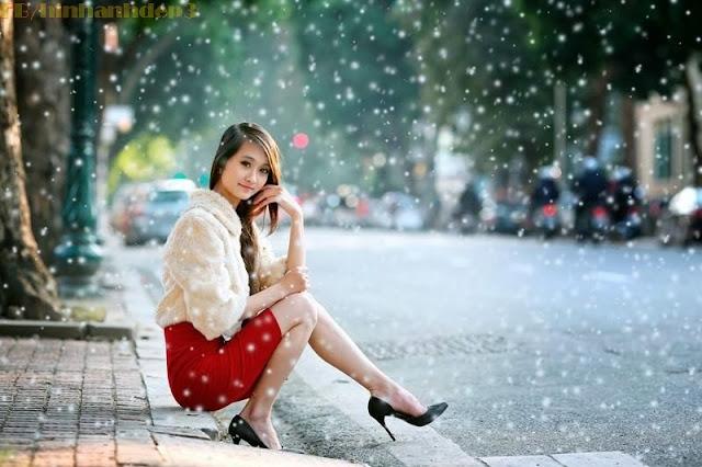 Nu sinh duyen dang, Nữ sinh duyên dáng với phong cách mùa đông ấm áp