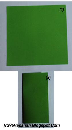 cara membuat origami untuk pemula bentuk pesawat terbang 1
