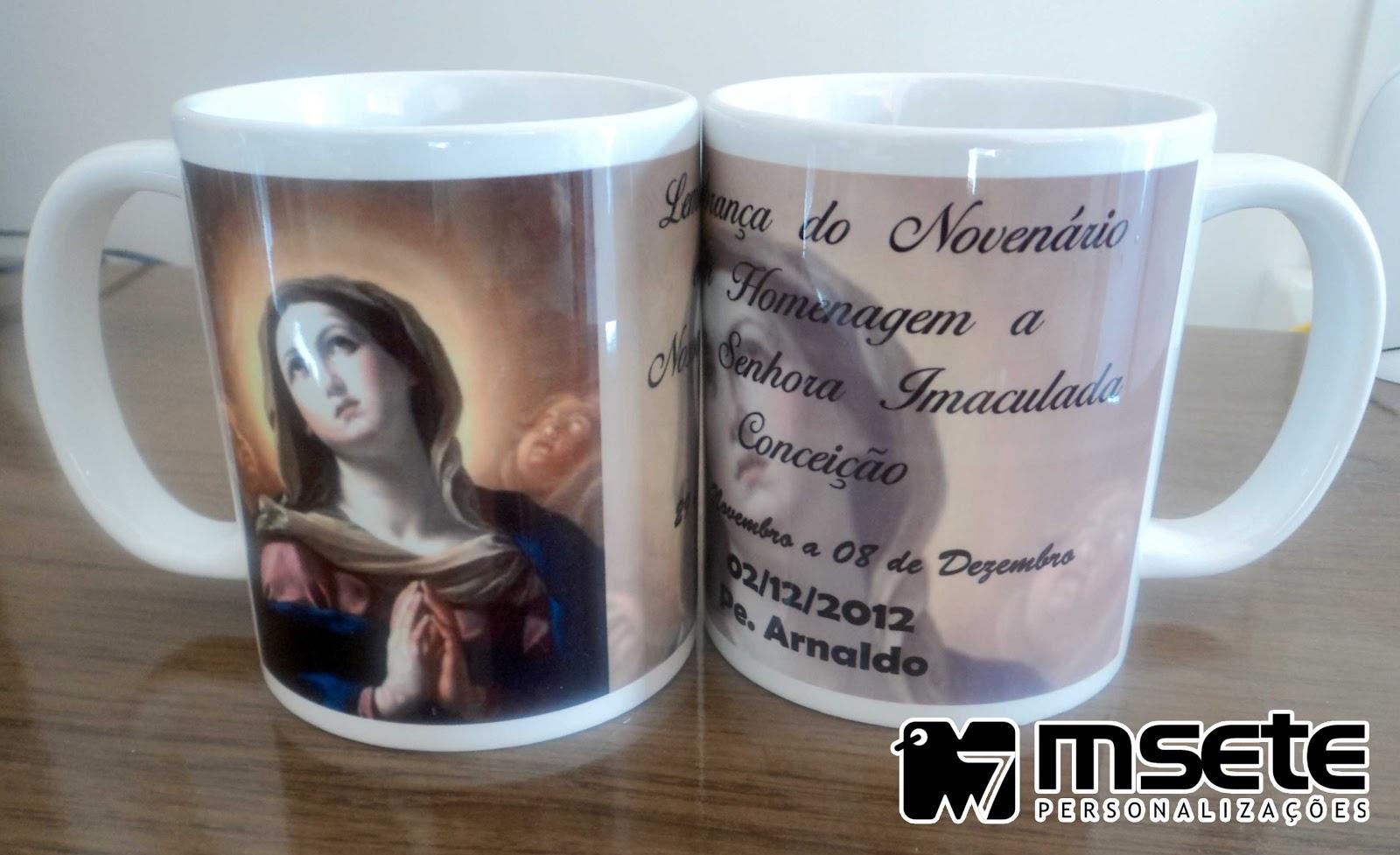 f521386df Msete Personalizações  Canecas de Porcelana - Religiosas