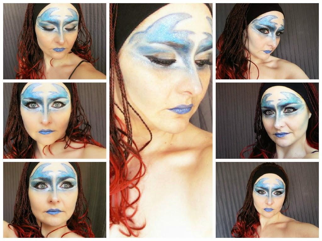 circo del sol, circo au soleil, azul,caracterización