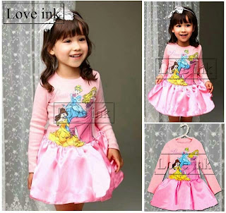 Dress Kids Princess Pink - Baju Anak Love Ink - Harga Saudara