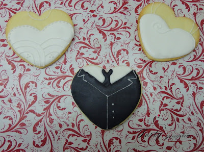 Ciasteczka serca ślub