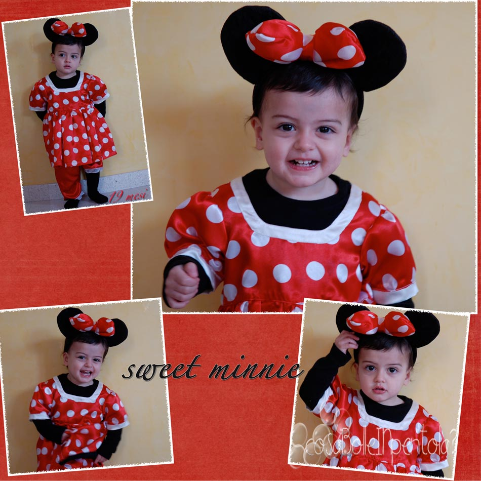 Costume carnevale minnie bambina 3 anni
