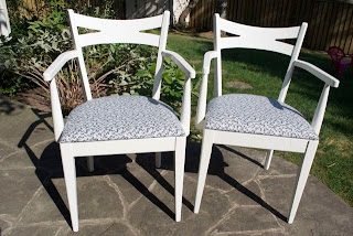 Chalk Finish Paint Chair And Fabric