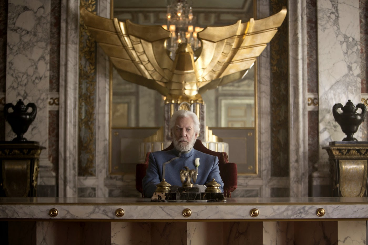 Donald Sutherland in The Hunger Games: Mockingjay part 1