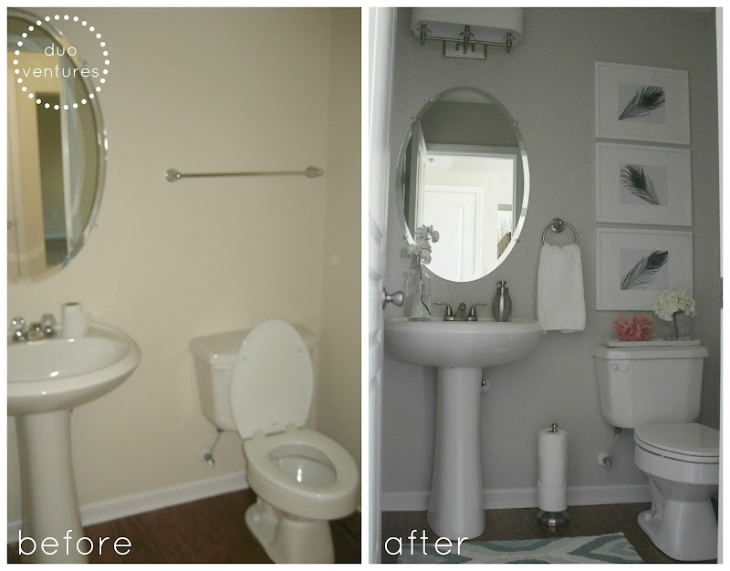 We should really call this post Half Bath Makeover: Part 1, because it  title=
