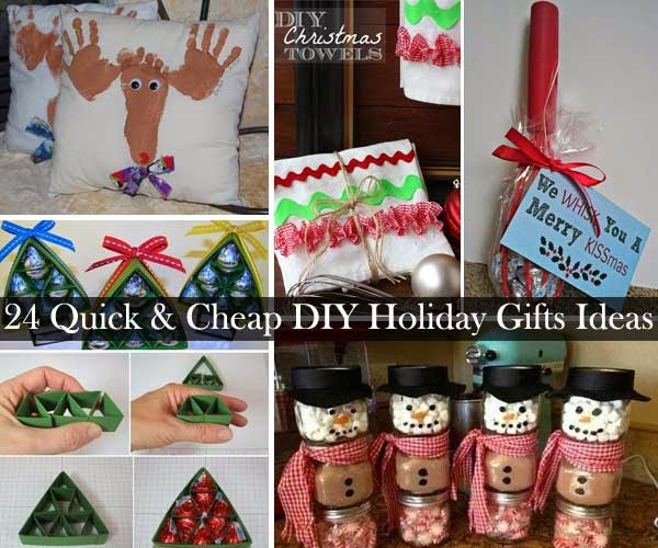 24 quick and cheap diy christmas gifts ideas diy craft Cute homemade christmas gifts