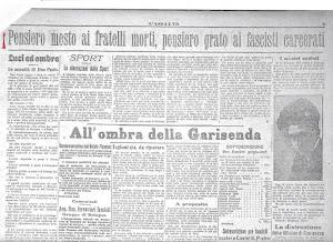 L'Assalto, giornale del Fascio bolognese di Combattimento del 24 dicembre 1921