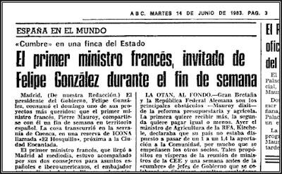 Noticia del Diario ABC sobre cumbre en El Hosquillo