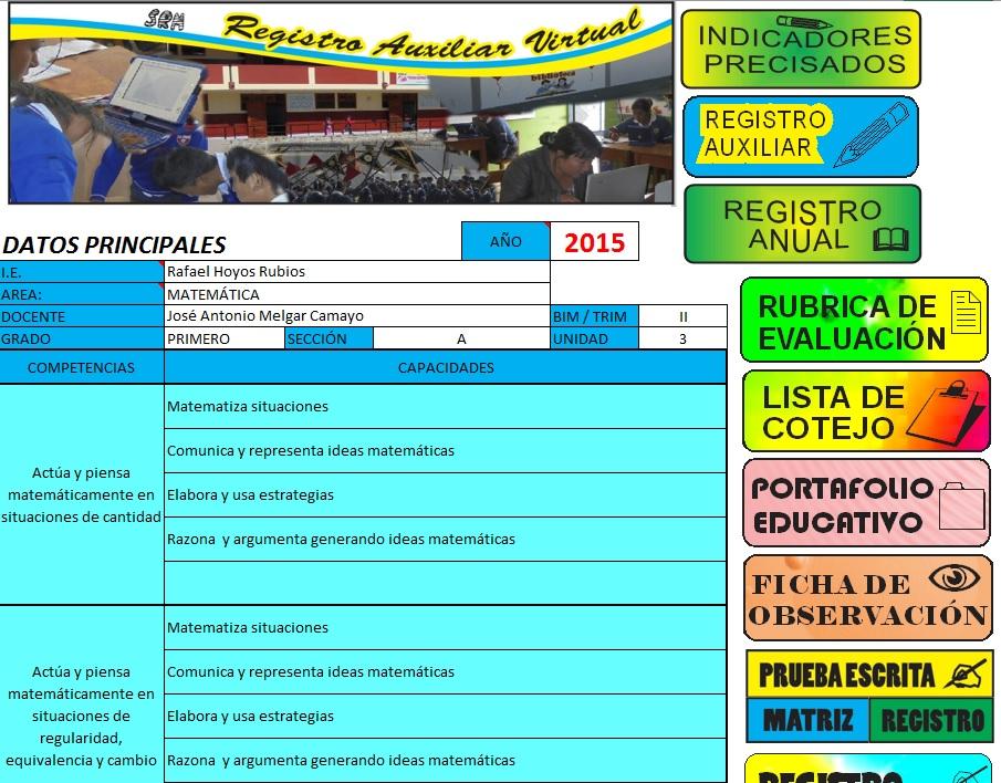 DESCARGAR REGISTRO AUXILIAR VIRTUAL E INSTRUMENTOS DE EVALUACIÓN ...