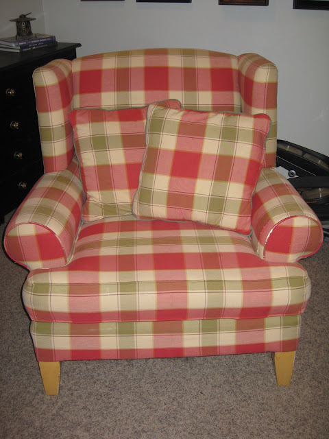 Reupholstered Arm Chair Reveal and Tutorial
