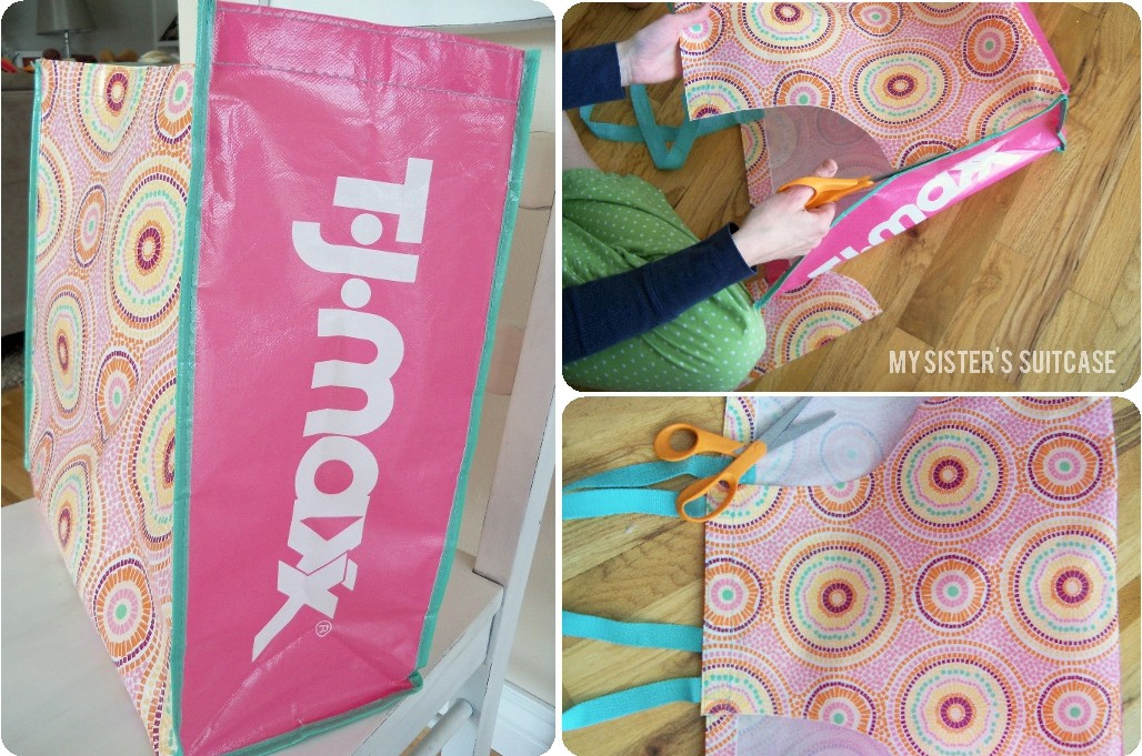 Reusable Shopping Bag to Apron! - My Sister's Suitcase - Packed ...