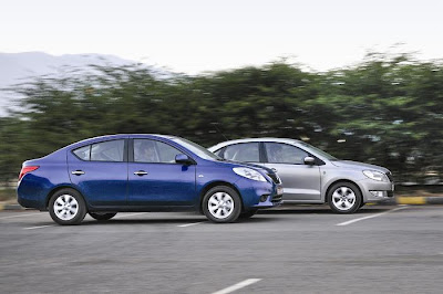 new nissan sunny and skoda rapid