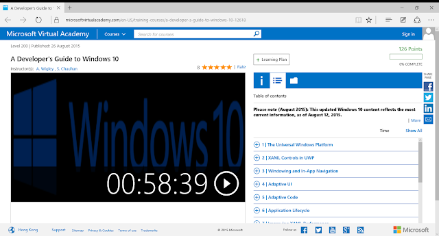 On-Line A Developer's Demand To Windows 10, Yesteryear Microsoft Virtual Academy