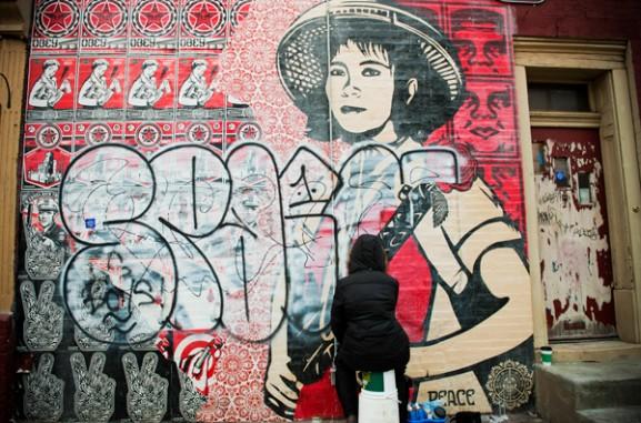 Lauren Cassady Removing Graffiti