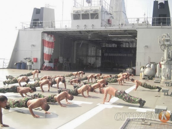 Satgas Encap Marinir Mulai Bertugas di Natuna