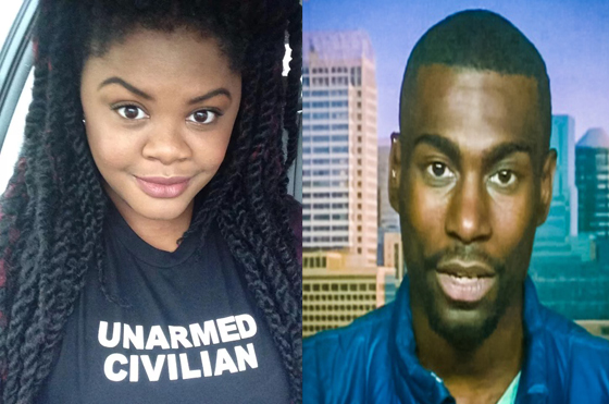 "Peaceful organizers Johnetta Elzie (left) and DeRay Mckesson (who made several appearances on CNN) were both labeled as ""high"" severity, ""physical,"" and ""#mostwanted"" threats. Black activists get far more scrutiny from government agencies and private ""security firms"" than the heavily armed and violent KKK, skinheads, white militias and other racist- supremacist groups. Private ""security firms"" are used to spy on Americans so the government can claim it does not spy on the legal political activities of its citizens."