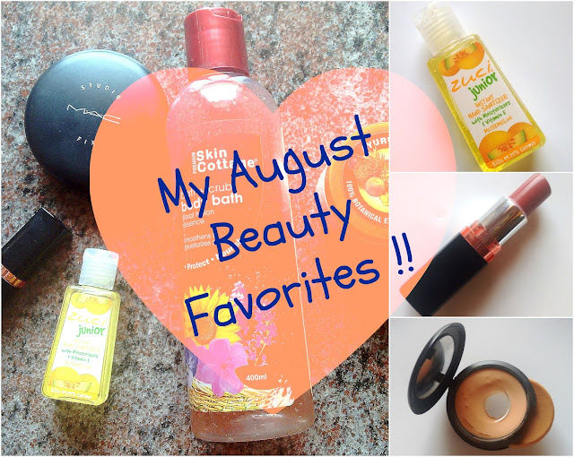 Monthly Beauty Favorites August 2015