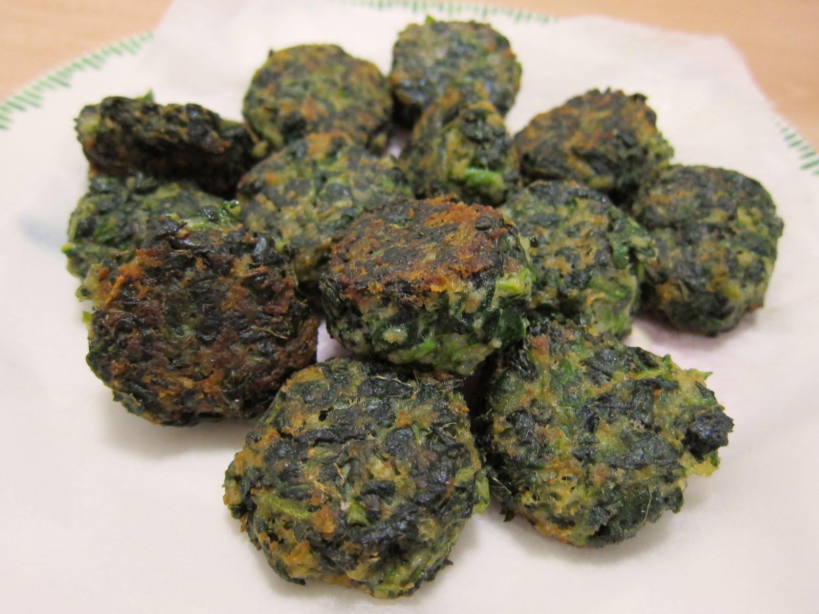 Kitchen comforts: Polpettine di Spinaci (Spinach Balls)