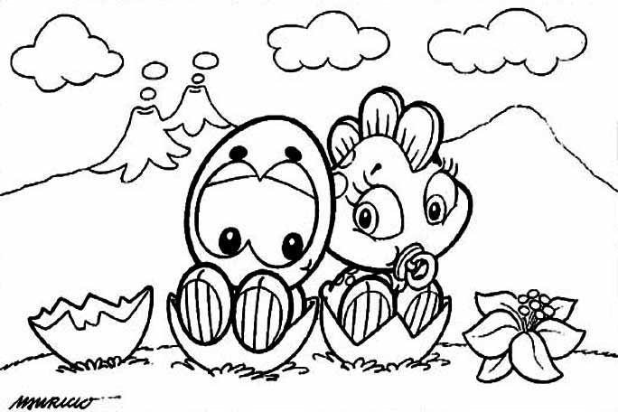 Desenho como desenhar Turma Da Monica Bebes pintar e colorir