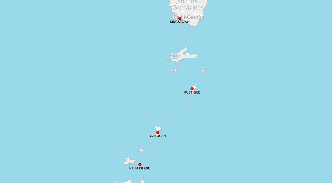 PORTS IN SAINT VINCENT AND GRENADINES