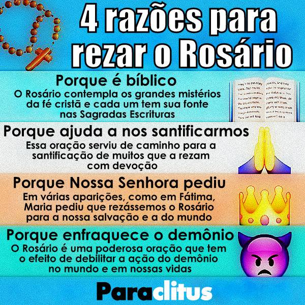 QUATRO RAZÕES PARA REZAR O ROSÁRIO