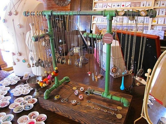 Vintage show off displays from plumbing and pvc pipe for Made in the south craft shows