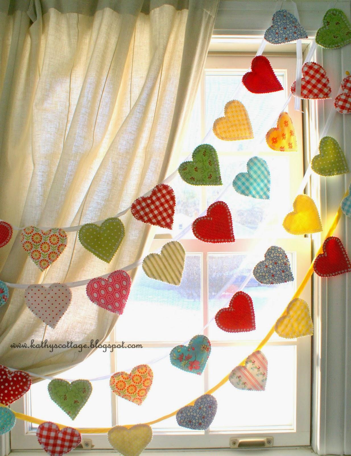 Scrappy heart banner