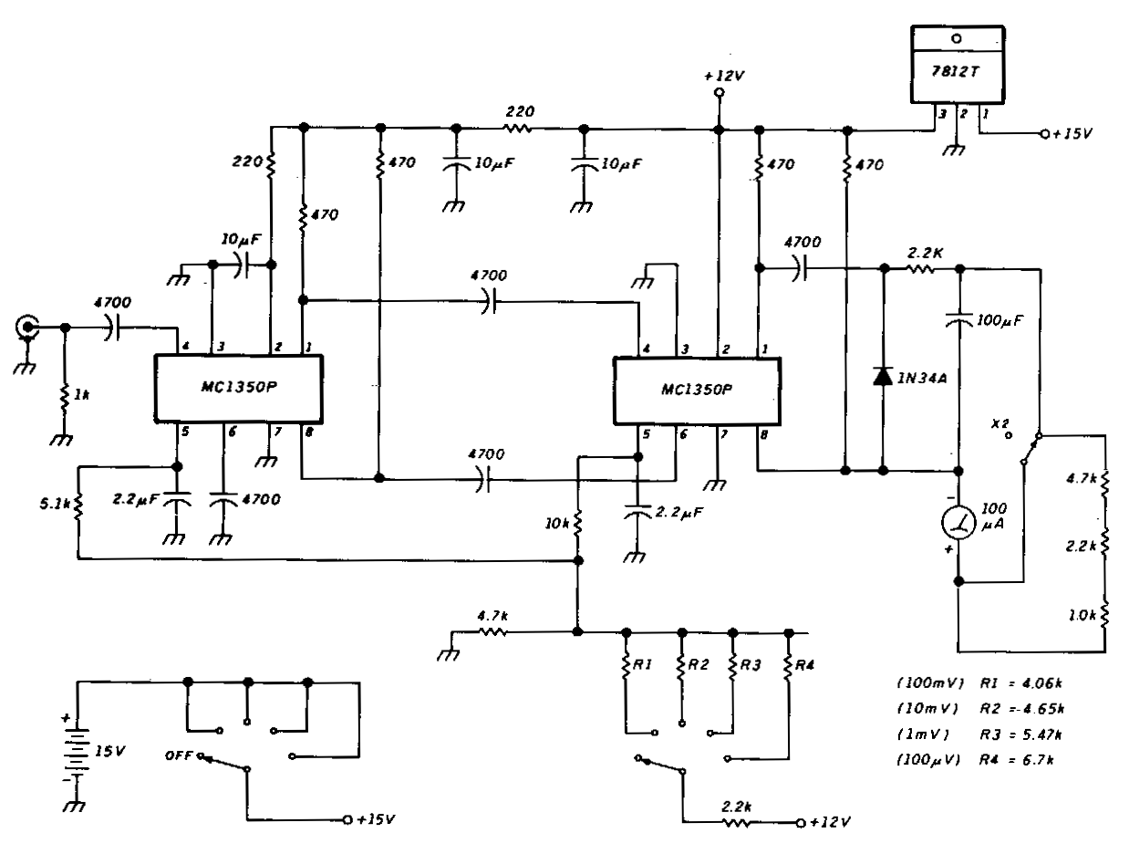 Basic Voltmeter Wiring Diagram Trusted Diagrams 12v Wire Sensitive Rf Circuit Electronic Circuits 12 Volt Ammeter