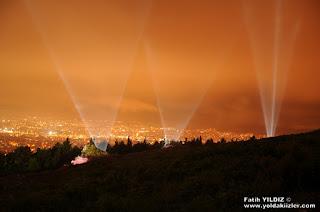Aydos Kalesi Gece Işık Gösterisi Sultanbeyli
