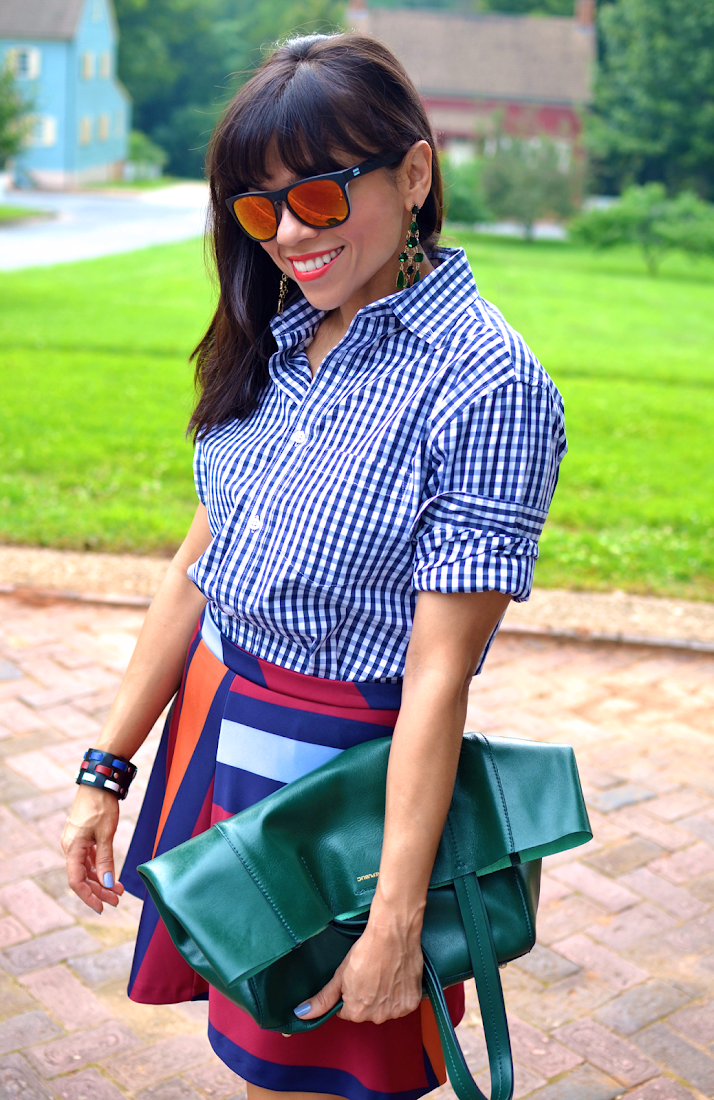 Gingham Shirt Street Style Outfit