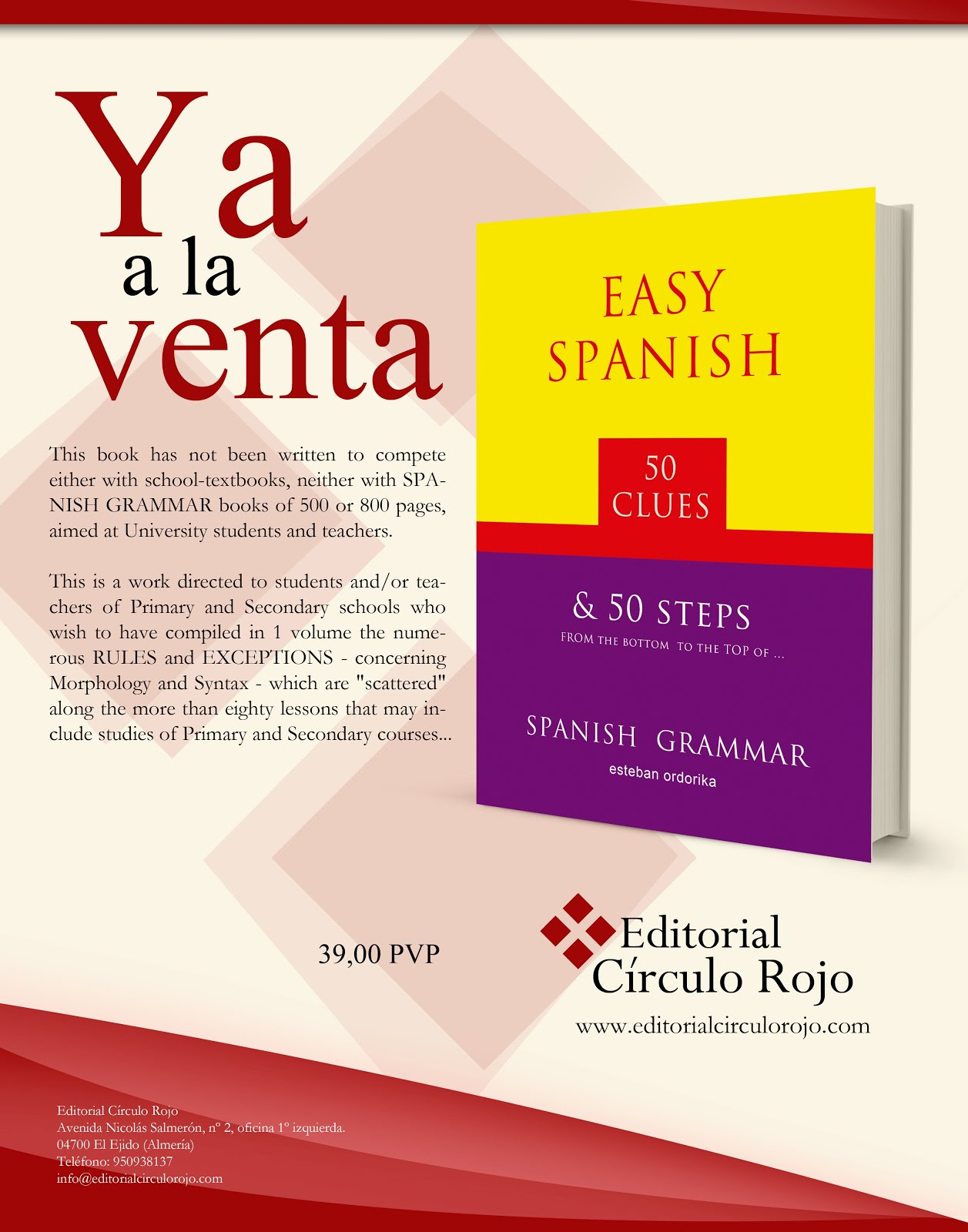 """Easy SPANISH - 50 clues - Grammar"""
