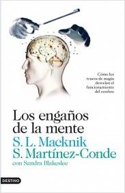 Portada del libro Los engaños de la mente utilizada para la reseña realizada por la Academia de dibujo y pintura Artistas6 de Madrid.