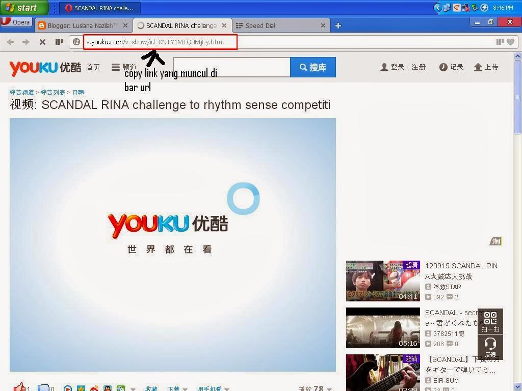 Kita bisa mencari alternatif dengan mendownload video di v.youku.com