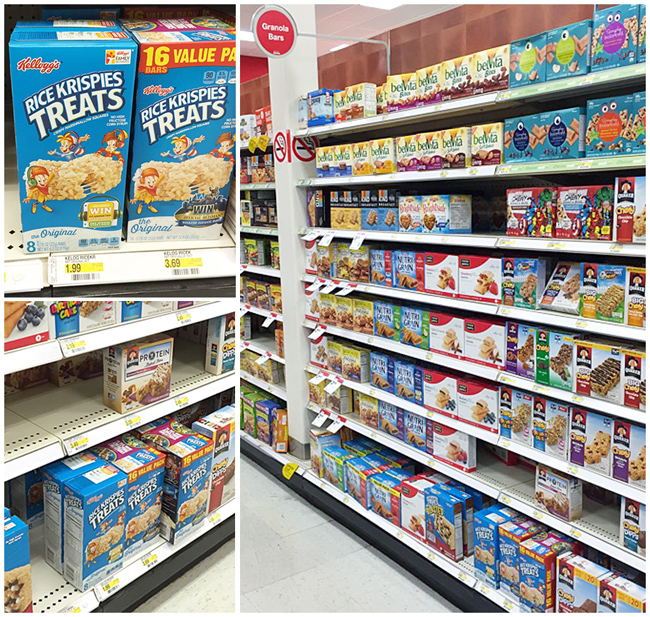 in store photo of Kellogg's Rice Krispies Treats in Target