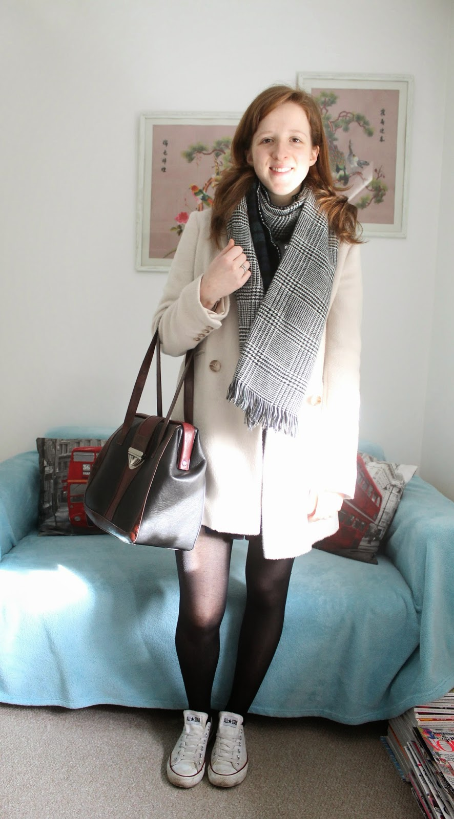 OOTD: Preppy Skirt and Statement Jumper with New Look, Warehouse, Tesco and East